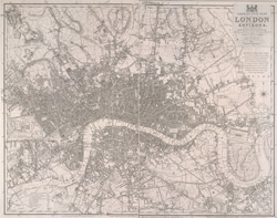 Laurie's new plan of London and its environs (1834-5)